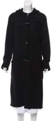 Lanvin Wool & Alpaca-Blend Longline Cardigan Black Wool & Alpaca-Blend Longline Cardigan
