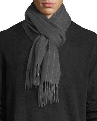 Neiman Marcus Men's Cashmere Pinstriped Scarf