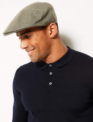 M&S CollectionMarks and Spencer Pure Linen Flat Cap