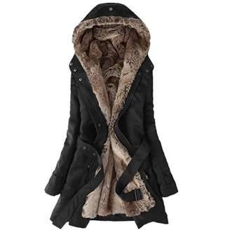 8c226aec3a8 UOFOCO Ladies Winter Warm Thick Long Jacket Fur Lining Coat Womens Hooded  Parka Coat