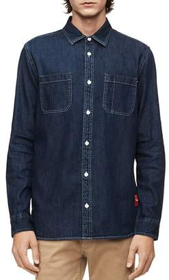 Calvin Klein Jeans Denim Regular Fit Utility Shirt