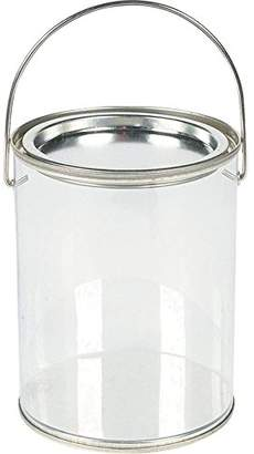 clear Plastic Paint Can Container Craft Decorating Artist Buckets - Great for Party or Baby Shower Decorations