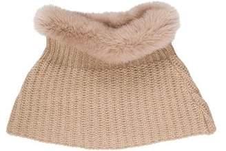 Max Mara Weekend Knit Fur-Trimmed Snood w/ Tags