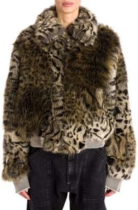 Stella McCartney Fur Free Snow Cat Bomber Jacket