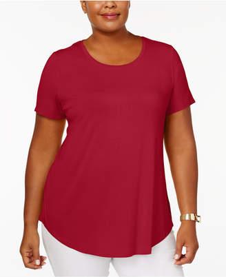 JM Collection Plus Size Short-Sleeve Top