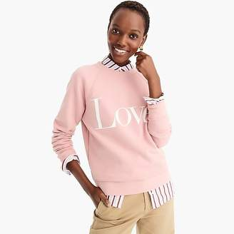 "J.Crew ""Love"" sweatshirt"