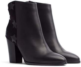 Tommy Hilfiger Leather Panelled Heeled Boot