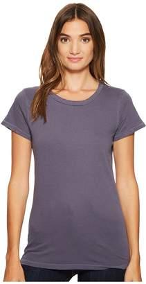 Alternative Cotton Jersey Distressed Vintage Tee Women's Short Sleeve Pullover