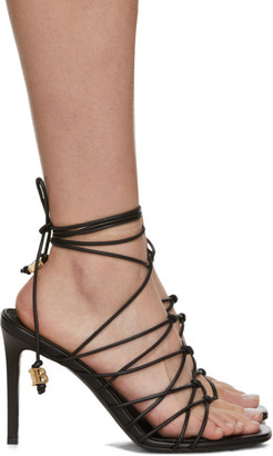 Balmain Black Mikki Lace-Up Sandals
