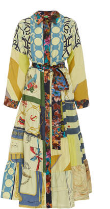 Rianna + Nina Exclusive One Of A Kind Patchwork Volant Shirt Dress