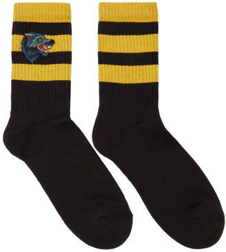 Gucci Black and Yellow Tiger Socks
