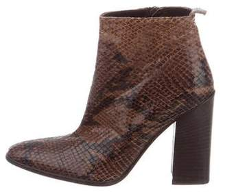 Via Spiga Embossed Ankle Boots