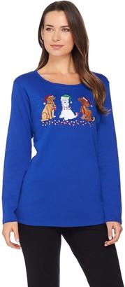 Factory Quacker Holiday Pets Long Sleeve T-shirt