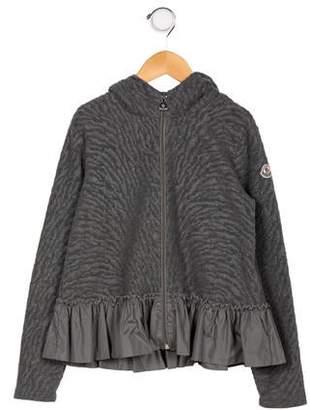 Moncler Girls' Textured Knit Jacket