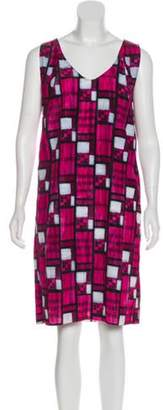 Marni Printed Knee-Length Dress Fuchsia Printed Knee-Length Dress