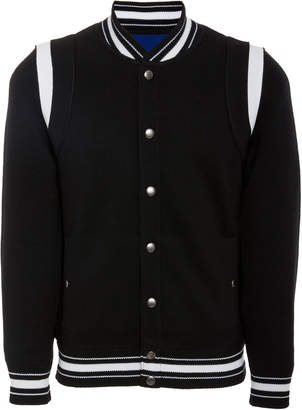Givenchy Logo-Embroidered Teddy Wool Varsity Jacket
