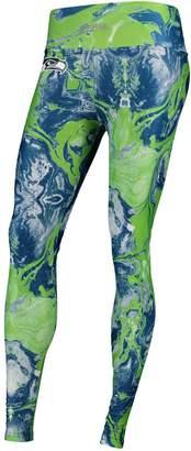 Unbranded Women's Zubaz College Navy Seattle Seahawks Swirl Leggings