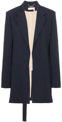 Chloé Long pinstripe wool blend blazer