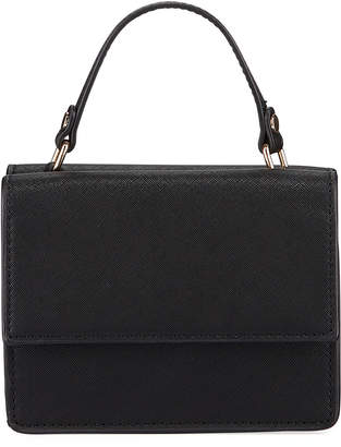 Neiman Marcus Mini Double-Sided Faux-Saffiano Lady Bag