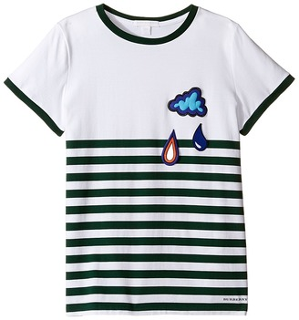 Burberry Kids - Stripe Cloud Tee Boy's T Shirt $130 thestylecure.com