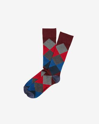 Express Diamond Pattern Dress Socks