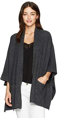 Michael Stars Women's Cozy Knit Cape with Pockets
