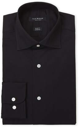 Isaac Mizrahi Black Stretch Slim Fit Dress Shirt