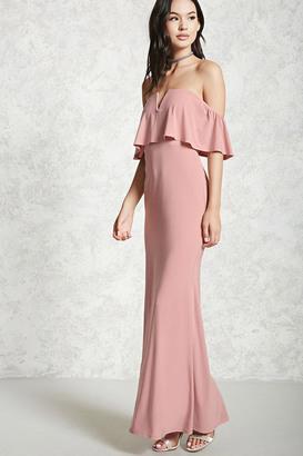FOREVER 21+ Off-The-Shoulder Maxi Dress $24.90 thestylecure.com