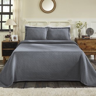 Superior All-Season Basket Weave Pattern 100% Cotton Oversized Soft and Cozy Bedspread