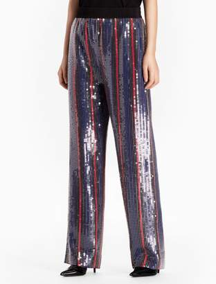 Calvin Klein large sequin striped pants