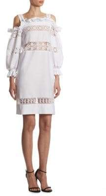 Alberta Ferretti Cold-Shoulder Cotton Dress