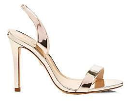 Schutz Women's Metallic Leather Slingback Sandals