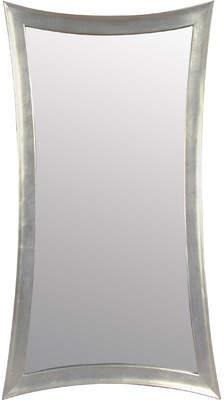 Rosdorf Park Catlin Concave Silver Leaf Leaner Mirror