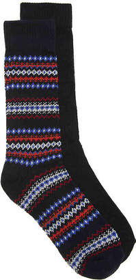 Aston Grey Fairisle Boot Socks - 2 Pack - Men's