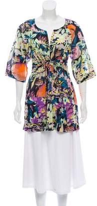 Diane von Furstenberg Mya Floral Tunic Top
