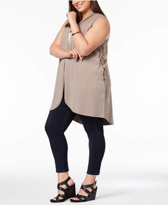 Love Scarlett Plus Size Lace-Up-Side Vest