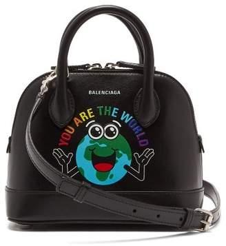 Balenciaga Ville Xxs Leather Cross Body Bag - Womens - Black Multi