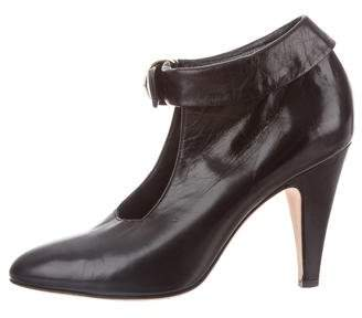 Loeffler Randall Leather Pointed-Toe Booties