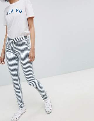 Urban Bliss Striped Skinny Jeans