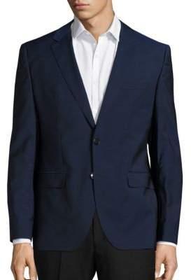 HUGO Wool-Blend Long Sleeve Jacket