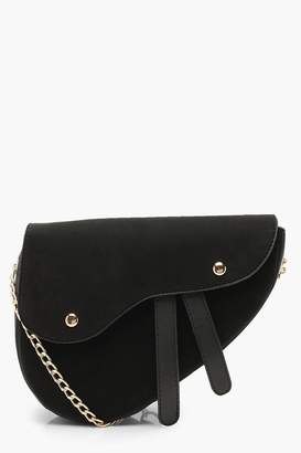 boohoo Wave Flap Saddle Cross Body Bag