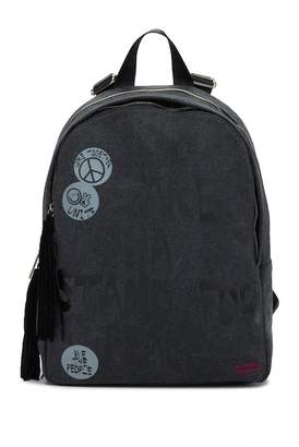 Peace Love World Double Suede Tassel Backpack