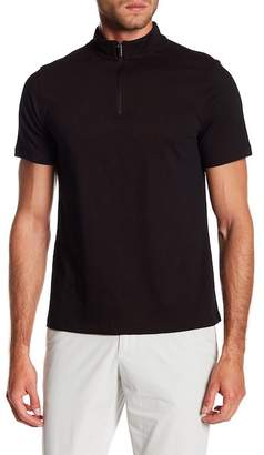 Perry Ellis Quarter Zip Short Sleeve Polo