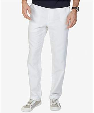 Nautica Men's Flat Front Linen Pant