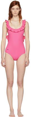 Fendi Pink Ruffle Swimsuit