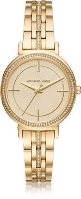 Michael Kors Cinthia Golden Stainless Steel Women's Watch