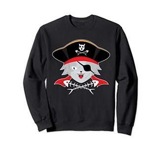 Cat Pirate Jolly Roger Flag Skull And Crossbones Sweatshirt