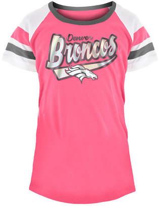 5th & Ocean Denver Broncos Pink Foil T-Shirt, Girls (4-16)