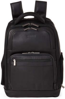 Kenneth Cole Reaction Black Ease-Back Leather Computer Backpack