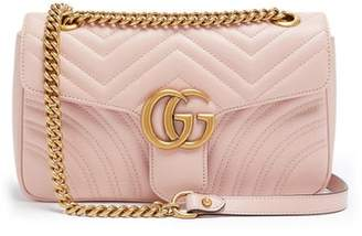 a8aa92bbcd1 Gucci Gg Marmont Small Quilted Leather Shoulder Bag - Womens - Light Pink